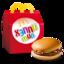 Хэппи Мил с гамбургером и яблочными дольками
