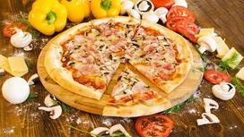 Пицца Мясное ассорти на тонком тесте