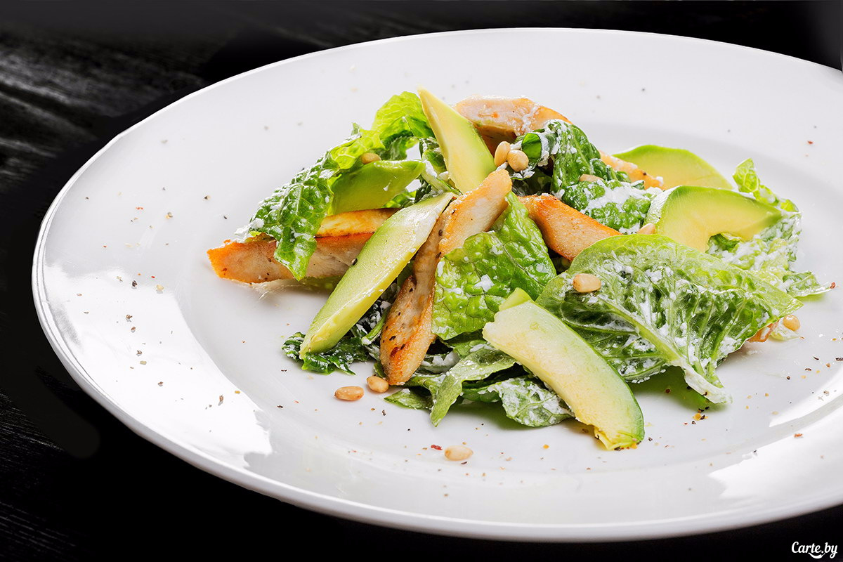 Салат из курицы с авокадо рецепт с очень вкусный