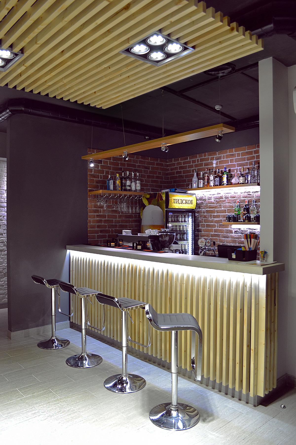 фото барных стоек в кафе весенние растения