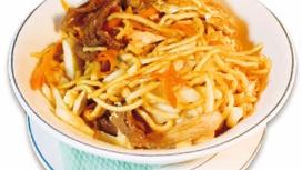 Лапша Янг-чау с креветками, курицей и бараниной
