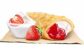 Пирожок с клубникой и ванилью
