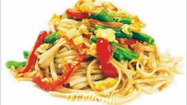 Лапша пшеничная с морепродуктами