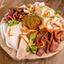 Мясная доска с вяленым мясом, салом Домашним, подкопчённой щековиной и аджикой Домашней