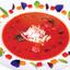 Томатный гаспачо с вялеными помидорами черри и камчатским крабом