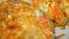 Рыба, запечённая с овощами