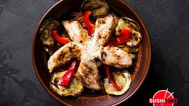 Стир-фрай с курицей и лапшой на выбор