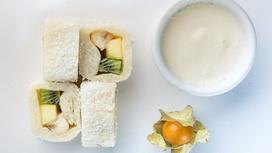 Десерт Белая орхидея