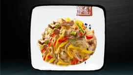 Лапша рисовая со свининой