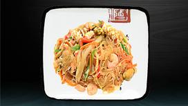 Лапша рисовая с морепродуктами