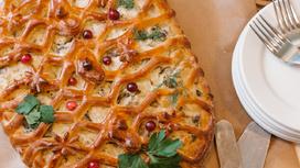 Пирог с рыбой и брокколи (предварительный заказ за сутки)