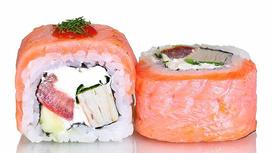Ролл острый с копчёным лососем