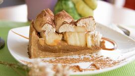 Десерт Баноффи пай с бананом