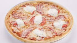 Пицца со сметанным соусом