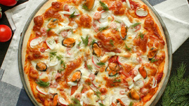 Пицца Морской микс