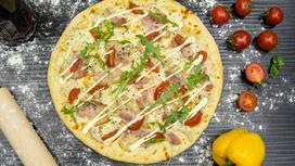 Пицца Цезарь на тонком тесте