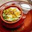 Вареники с картофелем, обжаренным луком и сметаной