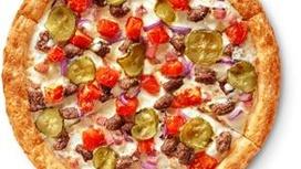 Чизбургер-пицца на традиционном тесте