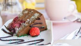 Торт Клубнично-маковый