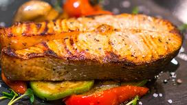 Стейк из лосося (весовое блюдо)