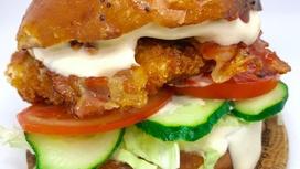 Бургер L с курицей и овощами