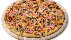 Пицца Карбонара Delux на тонком тесте