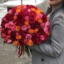 Разноцветные розы (50 см)