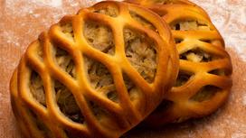 Мини-пирог с капустой и грибами