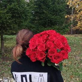 21 красная роза (70 см)