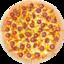 Пицца Колбаски карри тонкое тесто