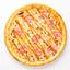 Пицца Ветчина-грибы с соусом Карри на пышном тесте