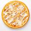 Пицца Цыплёнок с грибами и грибным соусом на пышном тесте